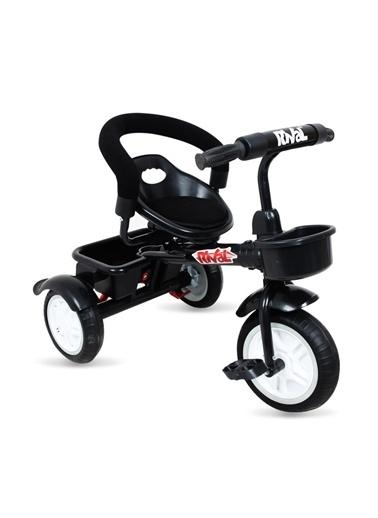Rival Rv502 Plus 3 Tekerli Çocuk Bisikleti Eva Dolgu, Patlamaz Ses Yapmaz Çocuk Bisikleti Siyah